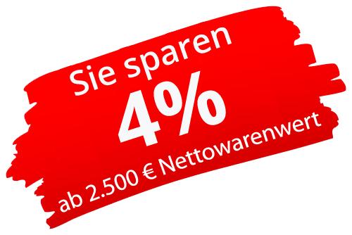 4% Rabatt